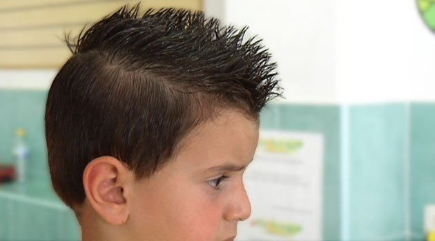cómo hacer una cresta, peinados de chico