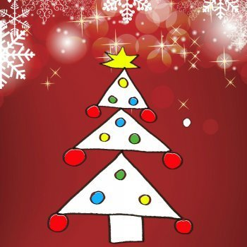 Enseña a tu hijo a dibujar un árbol de Navidad
