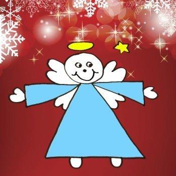 Enseña a tu hijo a dibujar un ángel de Navidad