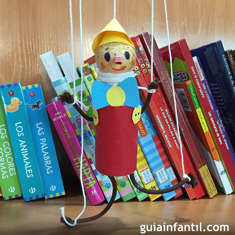 Te ense amos a hacer una marioneta de pinocho - Como hacer una manualidad ...