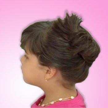 ideas para peinar peinados a nias y nios recogido con ganchos