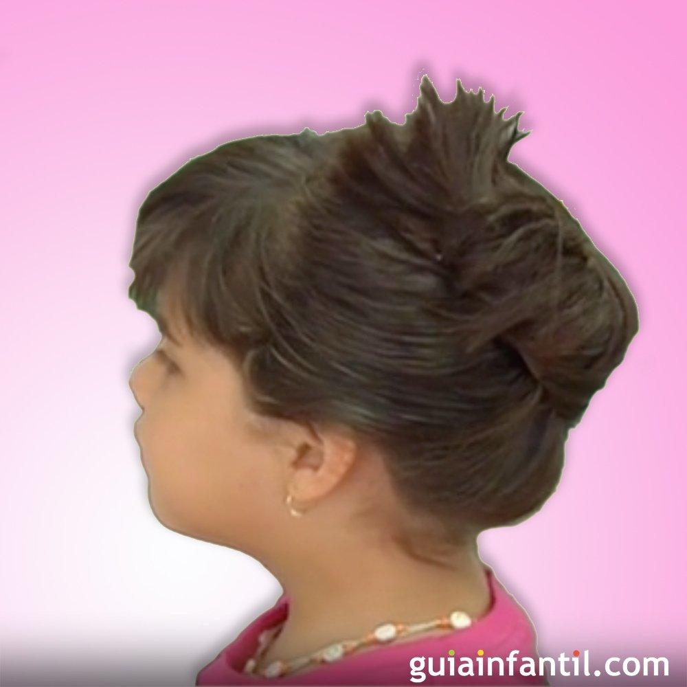 recogido arreglado con ganchos peinados para ni as