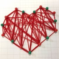 Aprende a hacer un corazón decorativo con hilos de lana