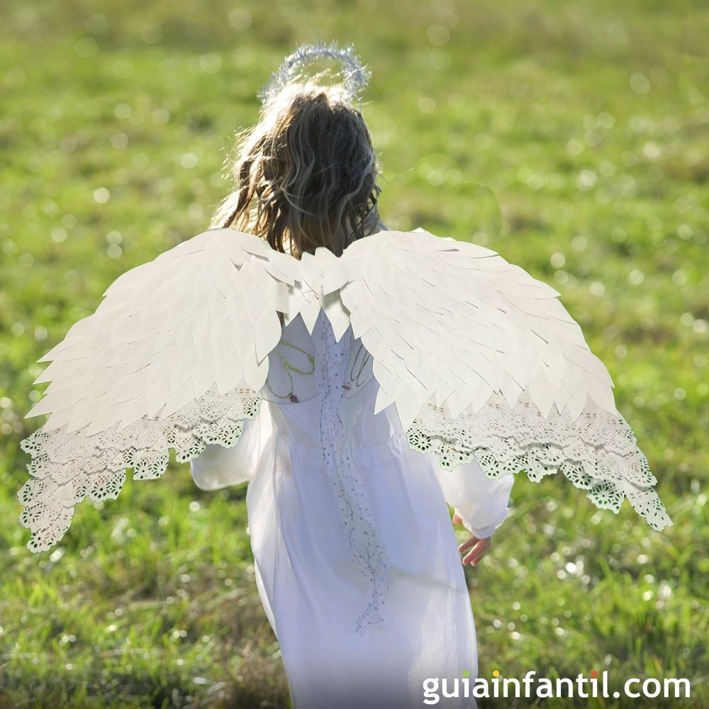 Aprende a hacer unas alas de ángel para un disfraz infantil