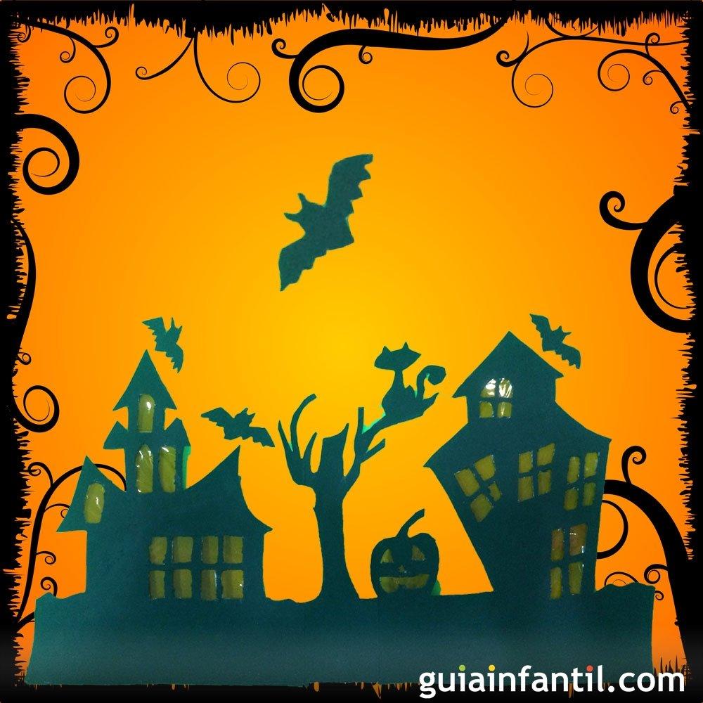 C mo hacer una casa de halloween con cartulina for Como construir una pileta de hormigon