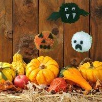 Cómo hacer un murciélago, fantasma o calabaza para Halloween con pompones