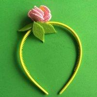 Aprende a hacer una diadema de flores con abalorios