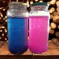 Botella de la calma para niños. Manualidad con purpurina