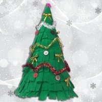 Cómo hacer un árbol navideño de papel