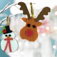 Cómo hacer adornos navideños con fieltro paso a paso