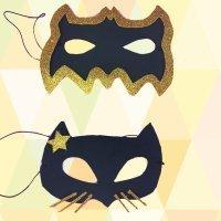 Cómo hacer una máscara de Catwoman y Batman con goma eva