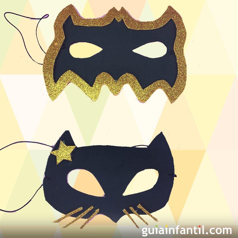 C mo hacer una m scara de catwoman y batman con goma eva - Como hacer una mascara ...