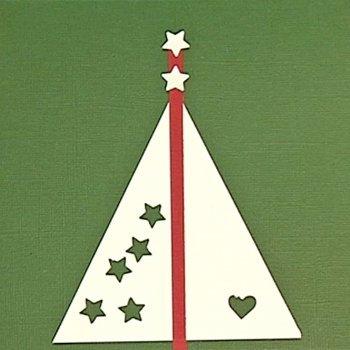 Tarjeta de árbol con estrellas