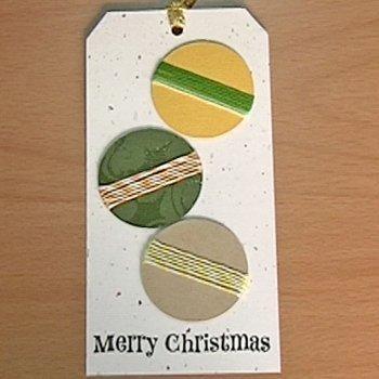 Postal con bolas de Navidad