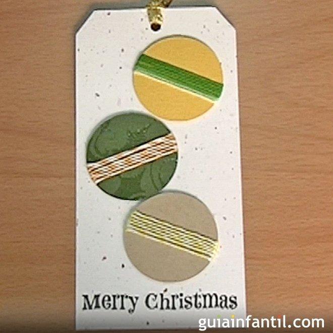 Postales para navidad tarjeta con bolas manualidades con - Bolas de navidad para ninos ...