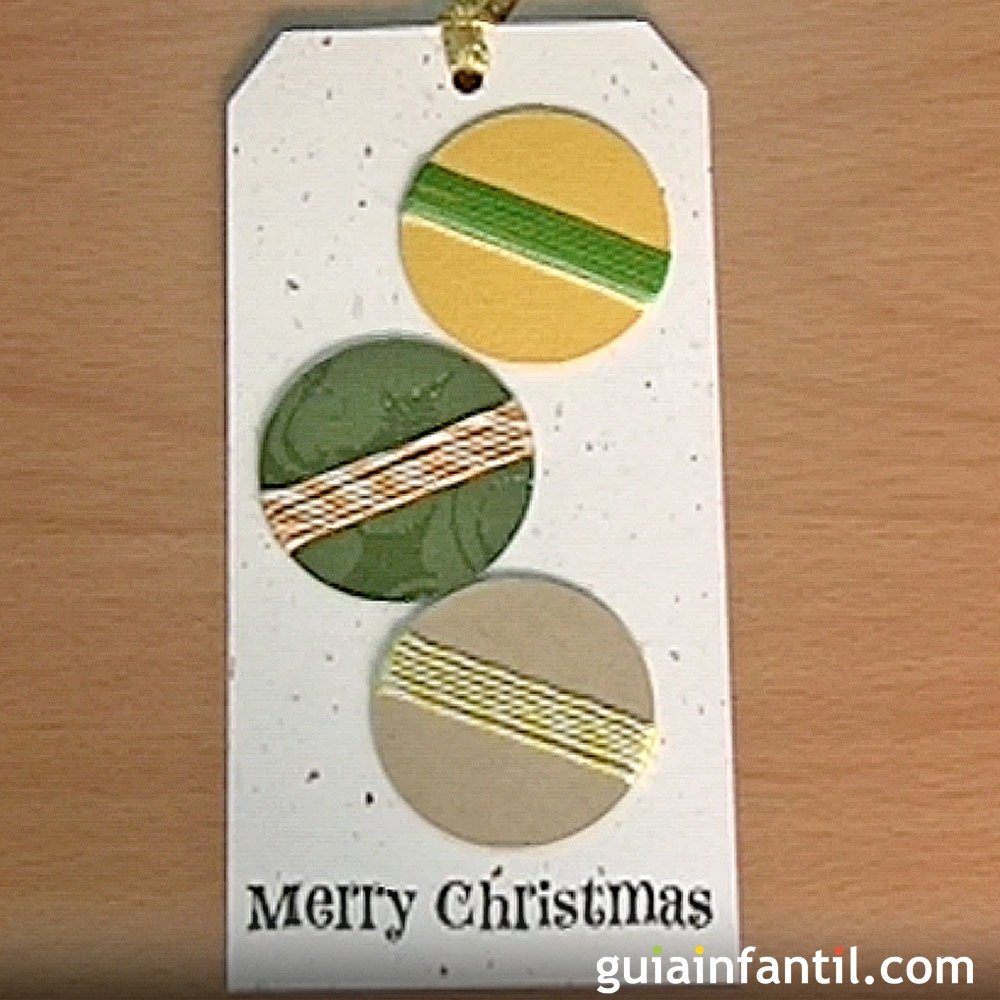 Postales para navidad tarjeta con bolas manualidades con - Tarjeta de navidad para ninos manualidades ...