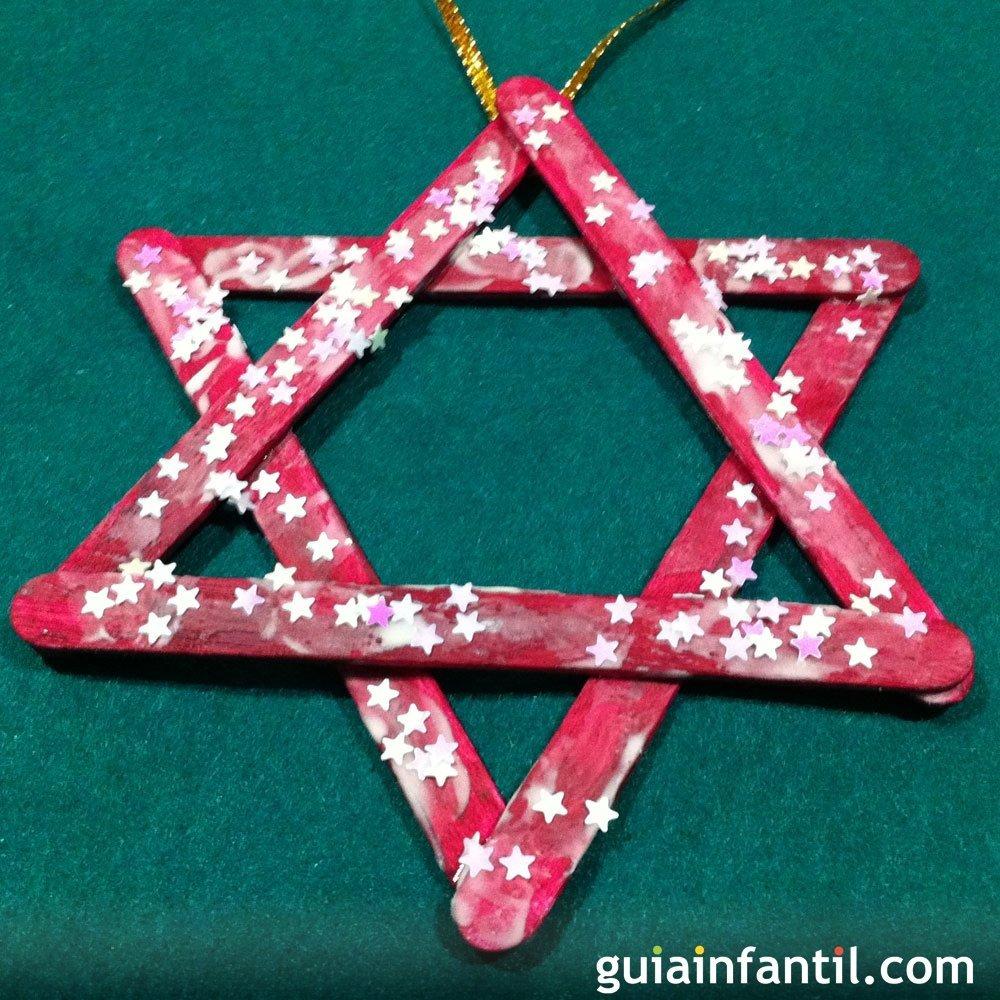 Una estrella decoraci n para el rbol de navidad - Decoracion navidad infantil manualidades ...