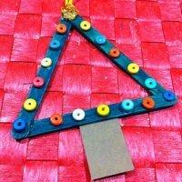 Árbol de Navidad. Manualidad facil para niños, decoración Navidad