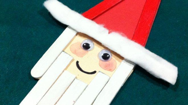 Un pap noel de decoraci n en navidad manualidades para ni os - Trabajos manuales de navidad para ninos de primaria ...