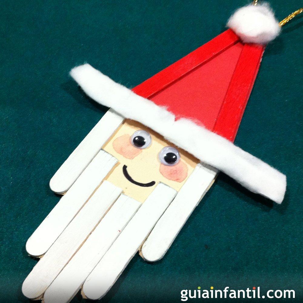 Un pap noel de decoraci n en navidad manualidades para ni os for Decoracion navidena con ninos