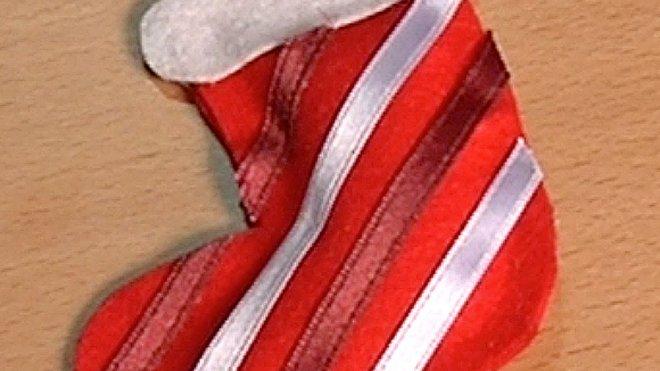 Una Bota Adornos De Navidad Con Fieltro Manualidades Para Ninos