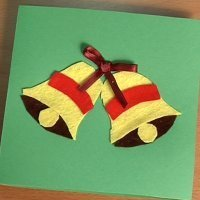 Postal de Navidad con campanas. Haz tus propias tarjetas