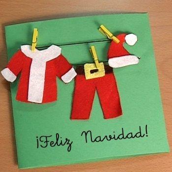 V deos de manualidades de tarjetas navide as - Postales navidad hechas por ninos ...