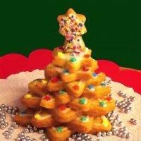 Árbol de Navidad con galletas paso a paso