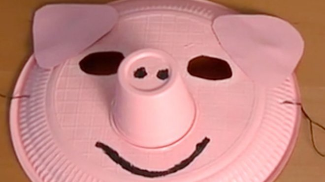 Manualidades De Disfraces Una Máscara De Cerdo