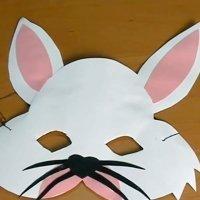 Disfraz de conejo para carnaval, cómo hacer el antifaz