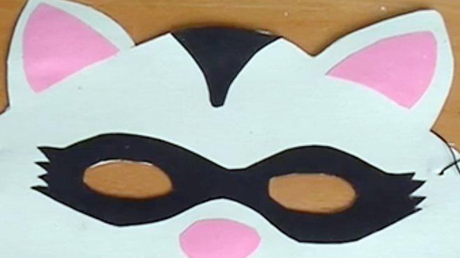 Manualidades Disfraces De Carnaval Antifaz De Mapache
