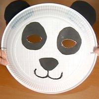 Máscara de oso panda, disfraz casero para carnaval