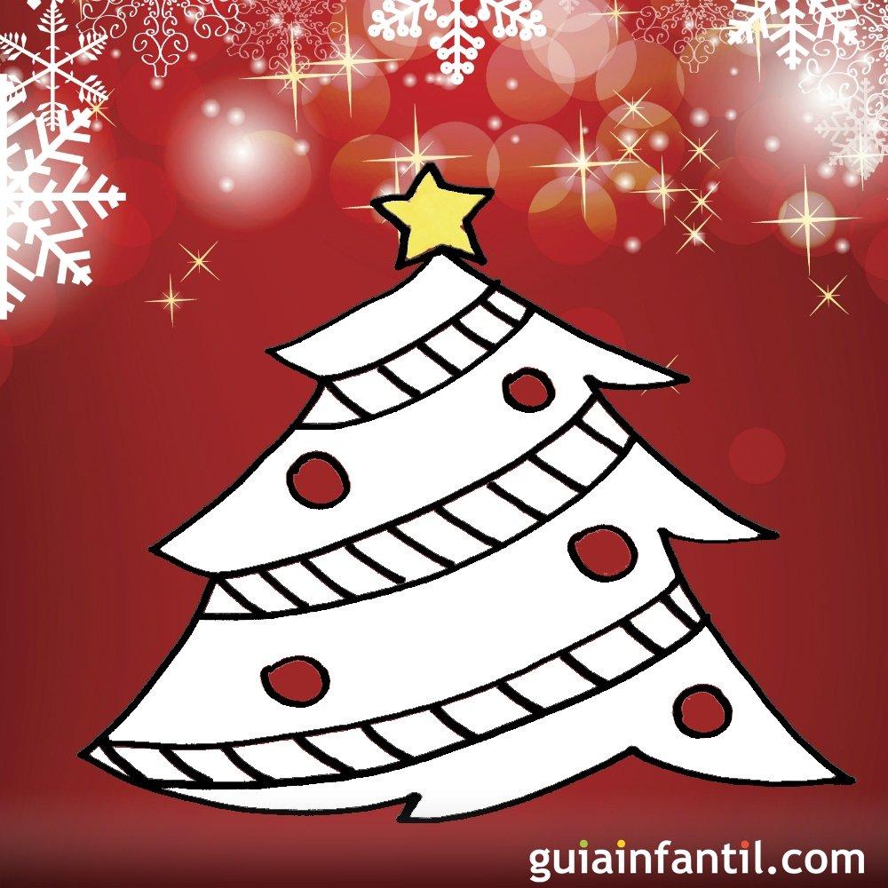Dibujos navide os para ni os rbol de navidad - Dibujo de navidad para ninos ...