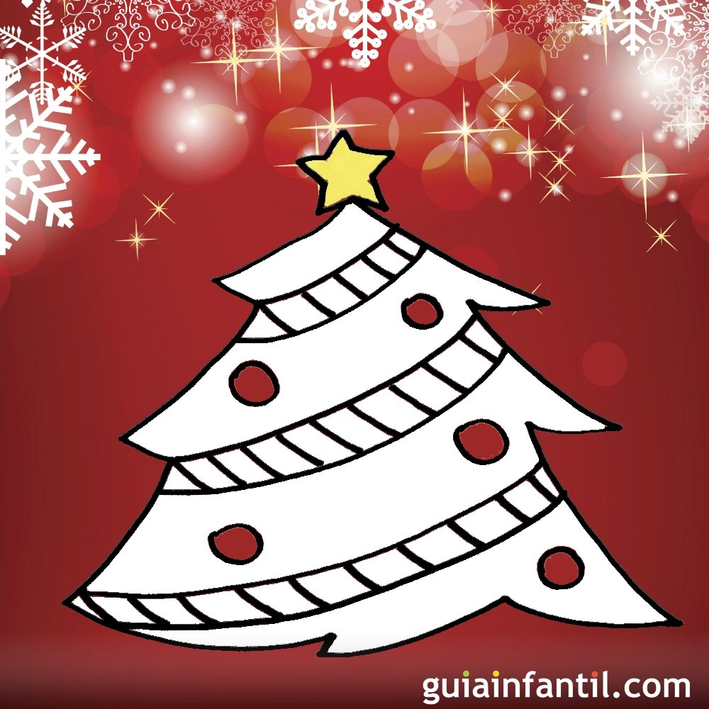 Dibujos navide os para ni os rbol de navidad for Dibujo arbol navidad