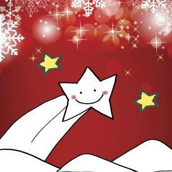 Dibujo de Navidad para niños. Estrella fugaz