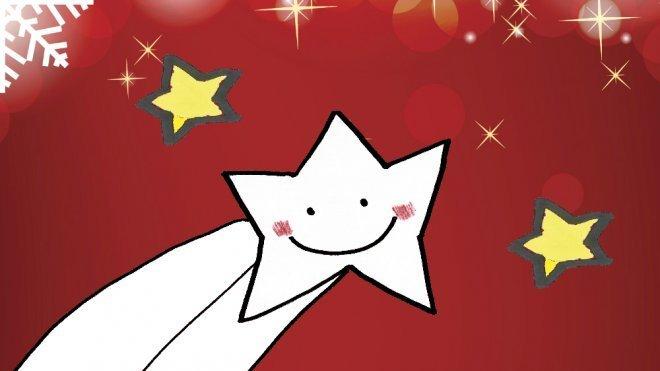 Dibujo De Navidad Para Niños Estrella Fugaz