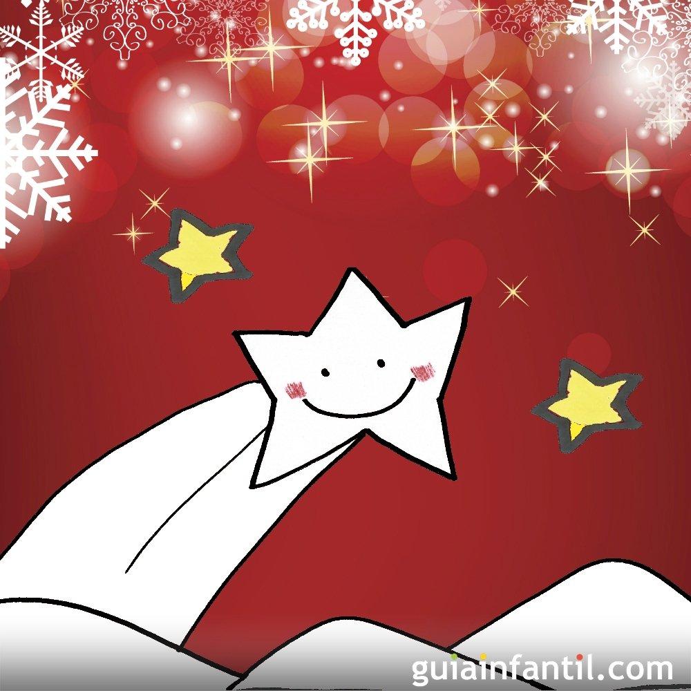 Dibujo de navidad para ni os estrella fugaz for Dibujos postales navidad ninos
