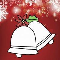 Dibujos para niños de Navidad. Campanas navideñas