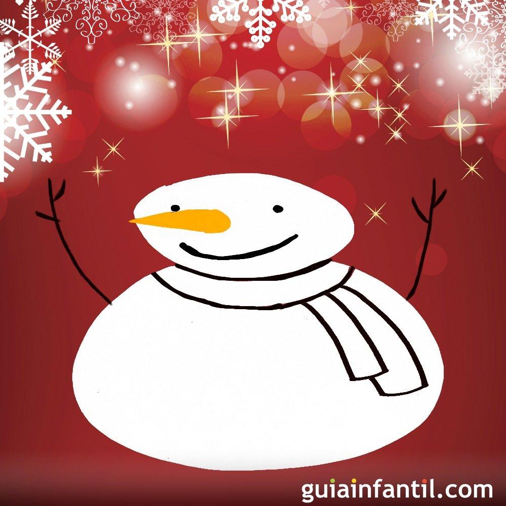 Dibujo De Navidad Para Niños Muñeco De Nieve