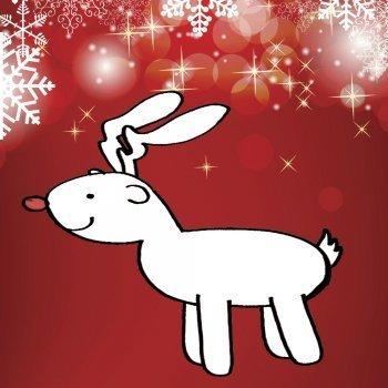 Dibujo de Navidad para niños. Reno navideño