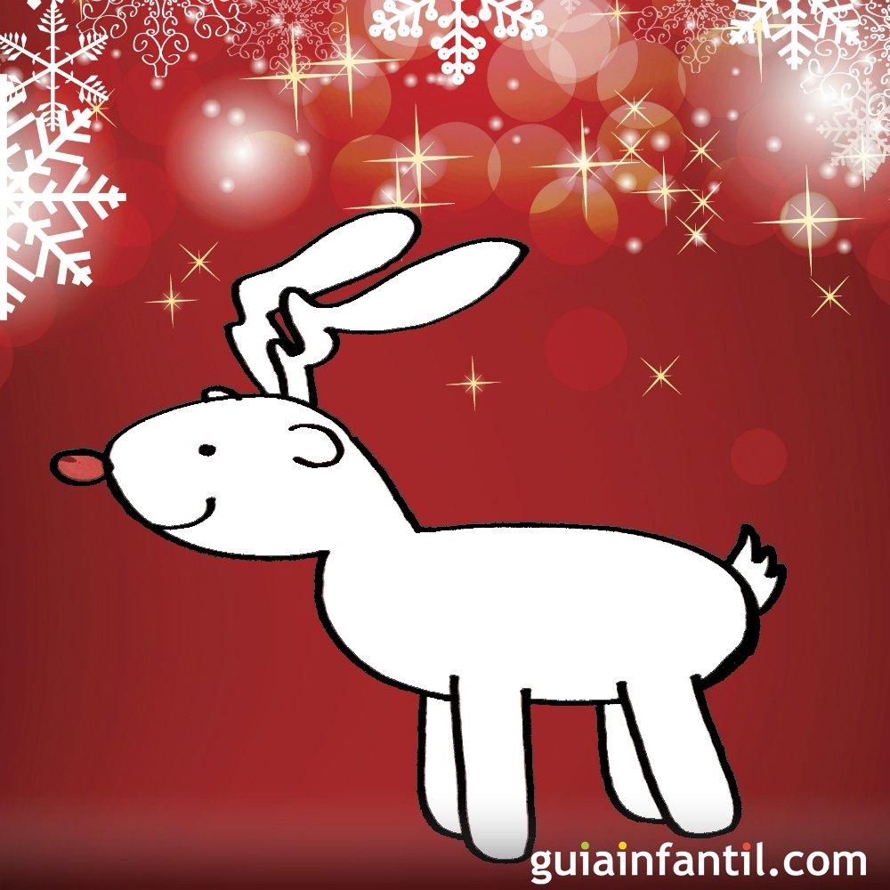 Dibujo de navidad para ni os reno navide o for Tarjetas de navidad para ninos pequenos