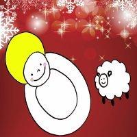 Dibujo para niños de Navidad. Niño Jesús