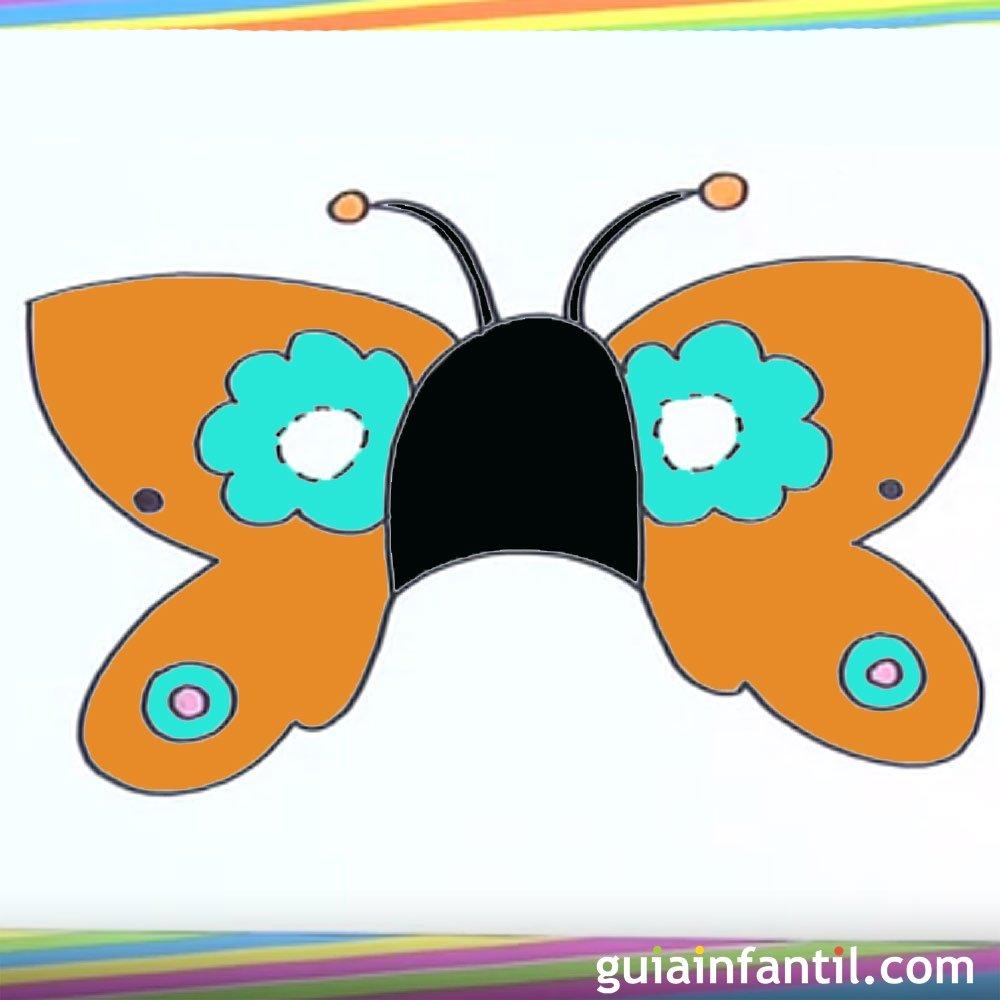 Cómo dibujar un antifaz de mariposa
