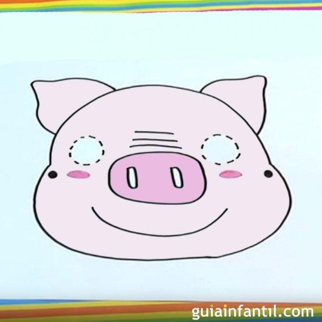 Cómo hacer, paso a paso, una máscara de cerdo