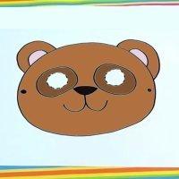 Cómo dibujar una máscara de oso