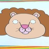 Cómo dibujar una máscara de león