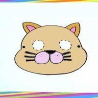 Cómo dibujar una máscara de gato