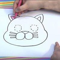 Cómo dibujar un gato. Dibujos para niños de animales
