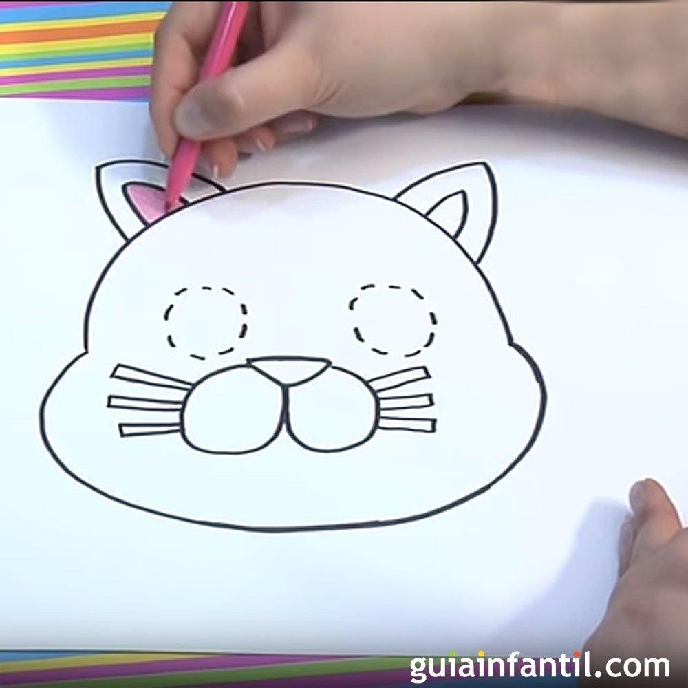 C mo dibujar un gato dibujos para ni os de animales - Como hacer dibujos en la pared ...