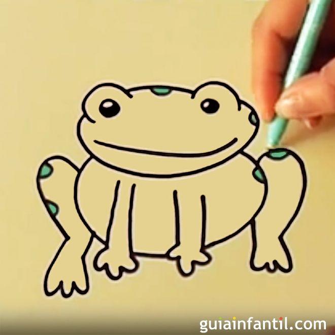 Cómo dibujar una rana. Dibujos infantiles